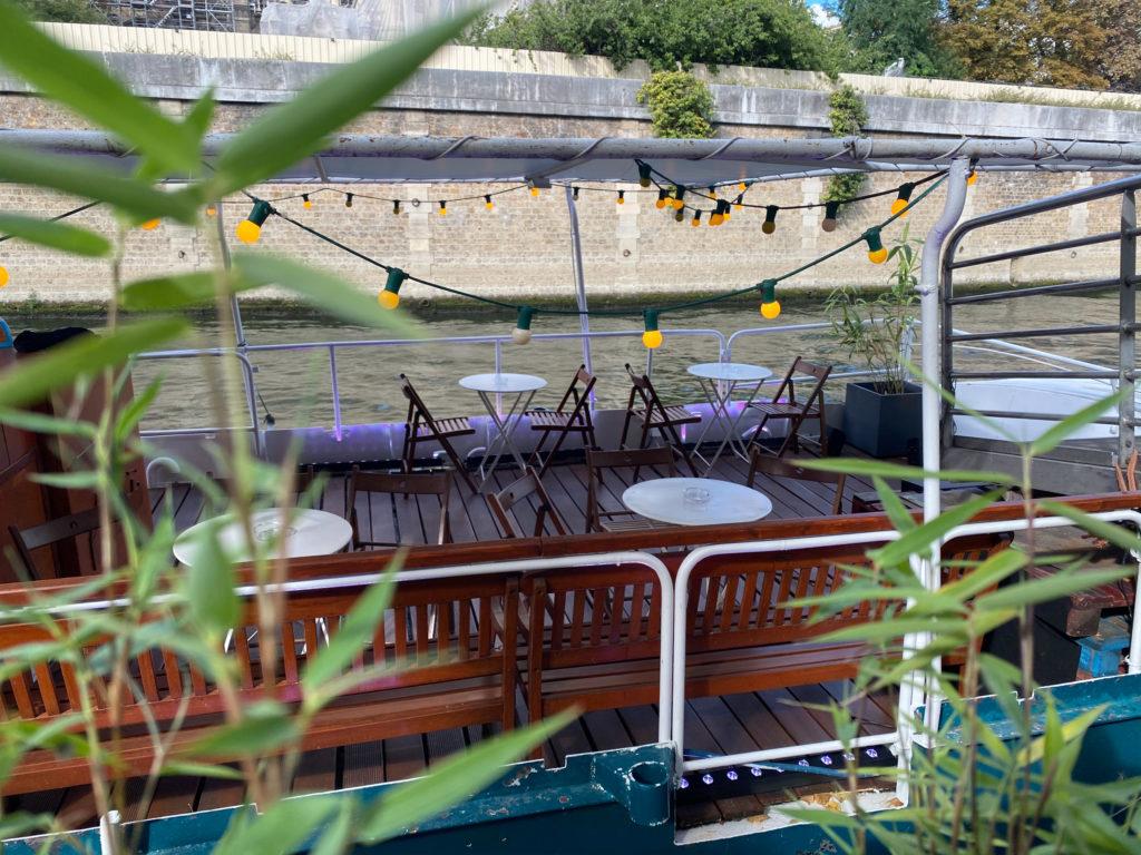 La terrasse du Bateau Daphné